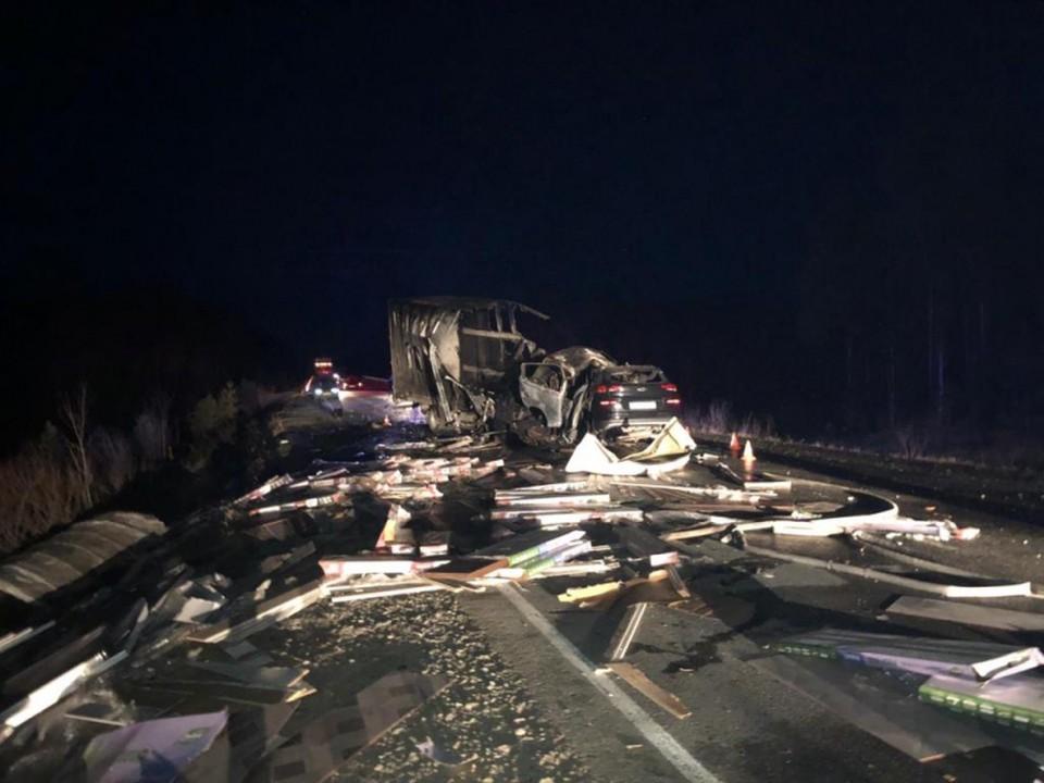 В аварии на югорской трассе погибли четыре человека Фото: МВД Росси по Советскому району