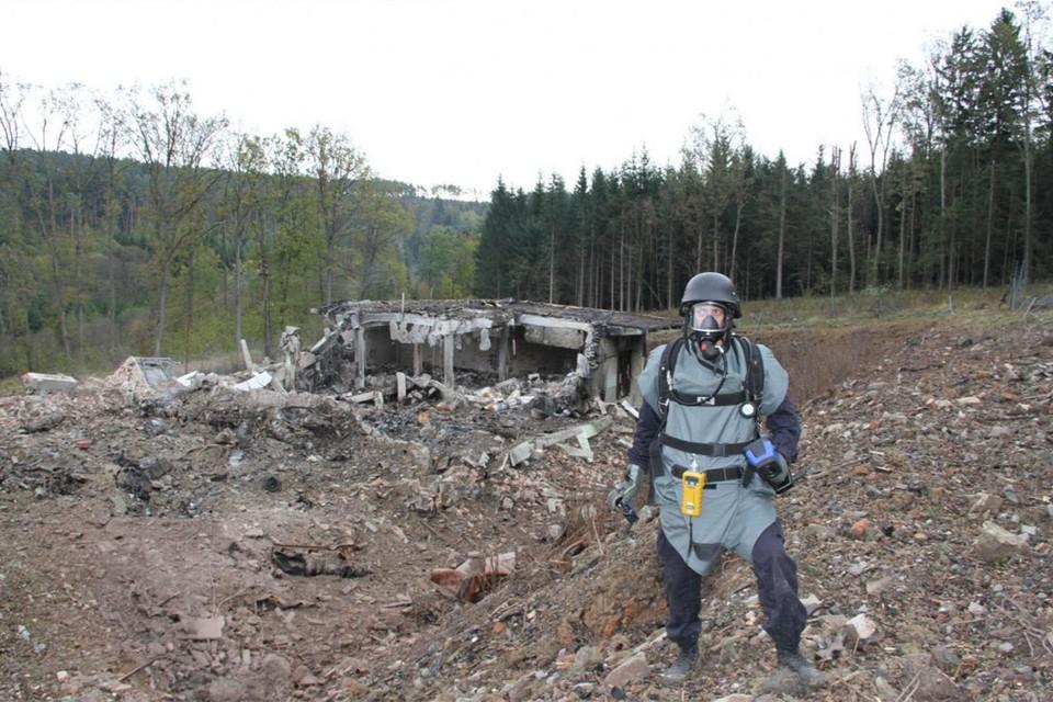 2014 год, на месте взрыва склада боеприпасов в Врбетице. Фото: police.cz