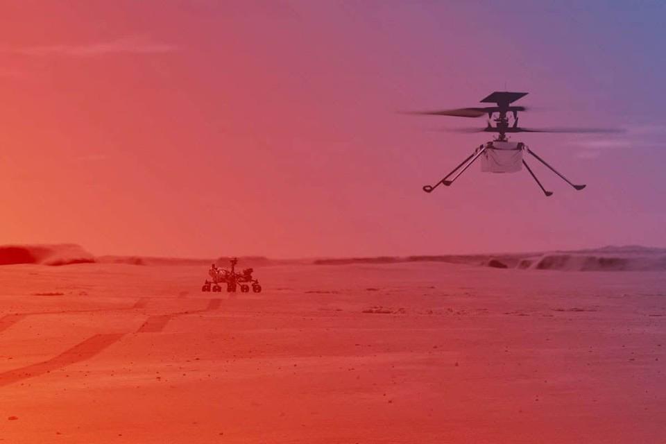 Задача дрона-вертолёта - поддержка миссии с воздуха, разведка местности, воздушная съёмка. Фото: NASA