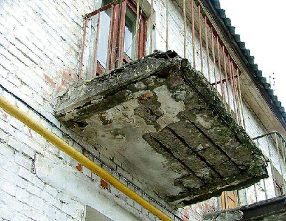 Аварийное состояние балконов
