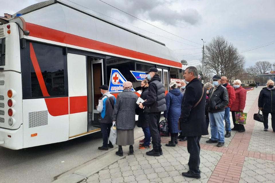 Мобильный пункт в Симферополе переехал на ул.Пушкина