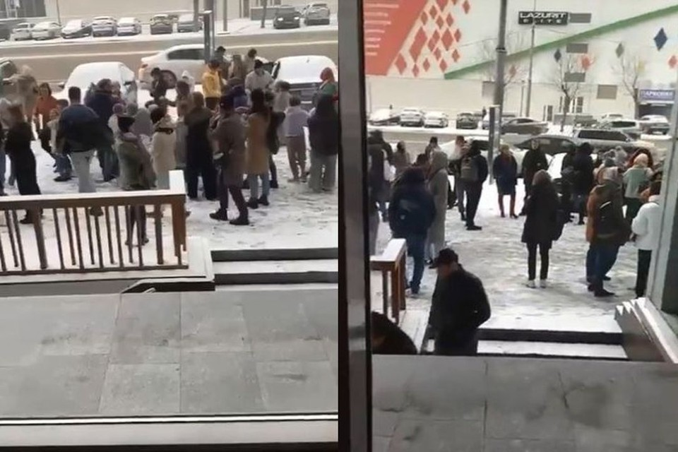 В Новосибирске эвакуировали торговый центр «Сан Сити» на левом берегу. Фото: Кадр из видео