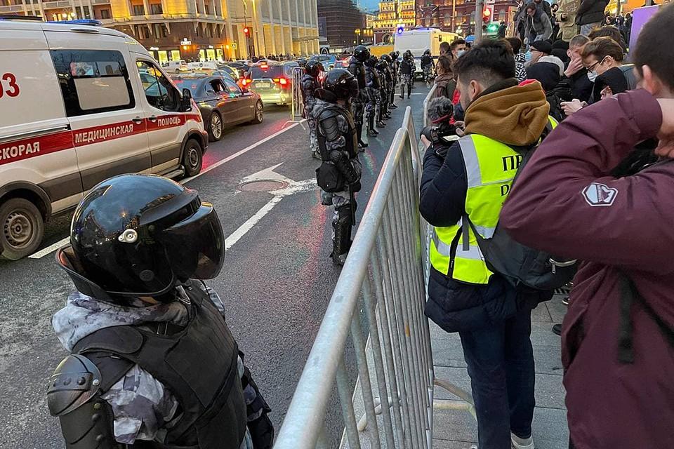 Полиция не применяла никакой силы