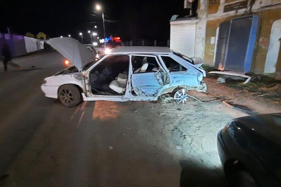 После удара машину развернуло поперек дороги Фото: ГИБДД Башкирии
