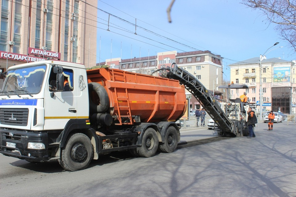 Ремонт дорог в Барнауле