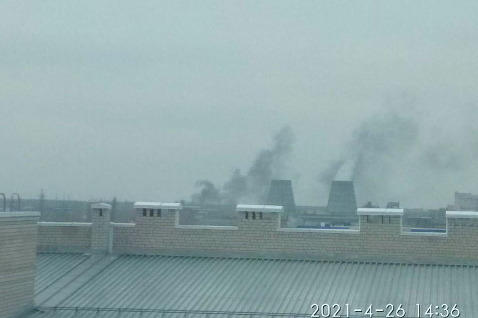 Пожар у ТЭЦ-3.
