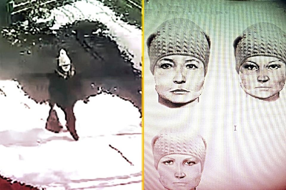 """Полиция обнародовала фоторобот подозреваемой. Фото: МО МВД России """"Назаровский""""."""