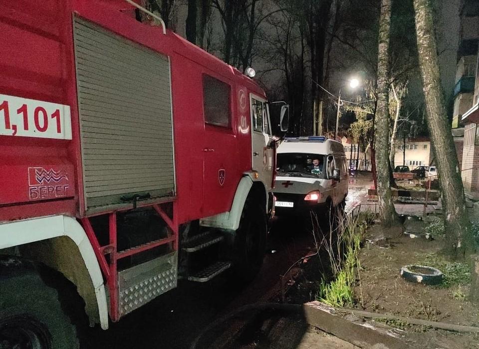 Двухкомнатная квартира выгорела на площади 15 квадратных метров