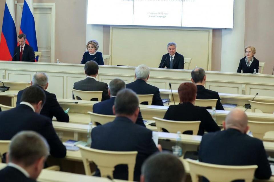 27 апреля в Таврическом дворце Санкт-Петербурга состоялось заседание Совета законодателей Российской Федерации. Фото: Законодательное собрание Новосибирской области.