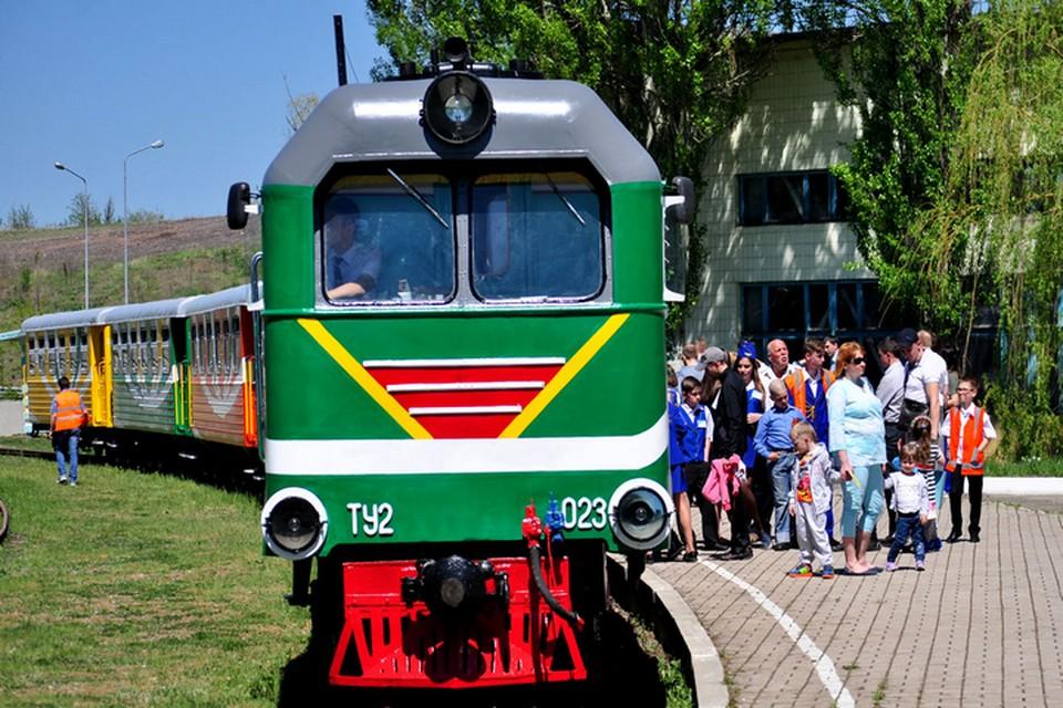 Детская железная дорога начнет работу с 1 мая. ФОТО: ДАН