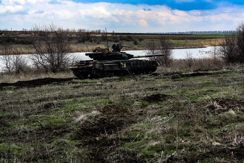 43 украинских танка обнаружено вблизи поселка Подлесное. Фото: Штаб ООС