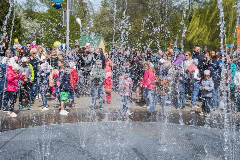 1 мая 2019 в Орле. Праздничное открытие фонтана в Детском парке