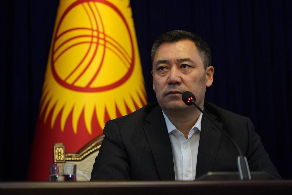 Президент Киргизии Садыр Жапаров предложил Таджикистану создать комиссию по поддержанию мира . Фото: САРАЛАЕВ Абылай/ТАСС