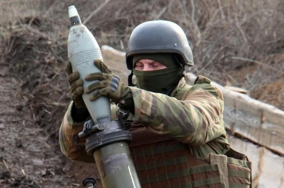 Украинские военные нанесли минометный удар по Саханке. Фото: штаб ООС