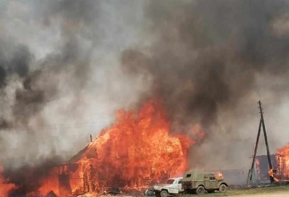 Страшный пожар уничтожил и большой дом многодетной семьи. Фото: vk.com/gazetavpered