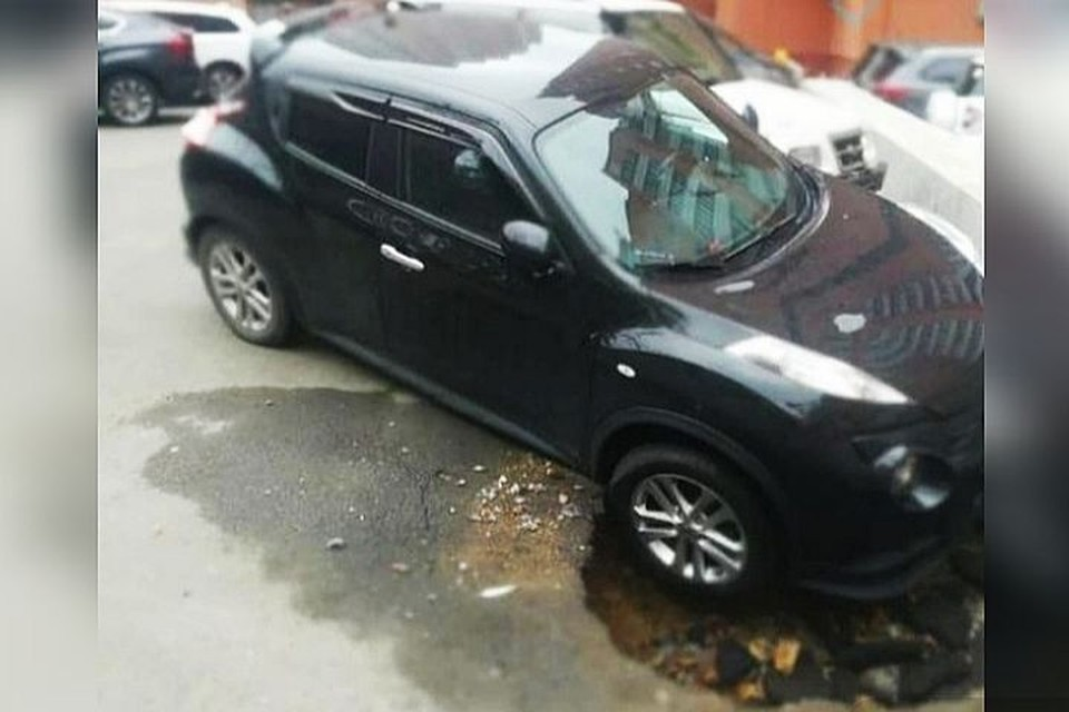 Автомобиль оказался в импровизированной ловушке. Фото: www.instagram.com/dpskontrol_125rus.