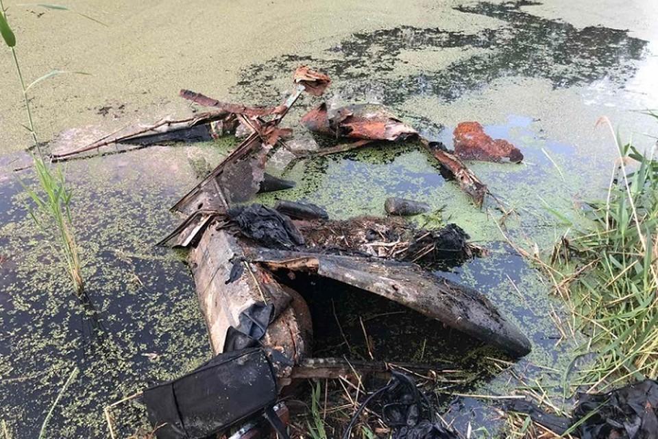 Утонувший автомобиль с останками внутри