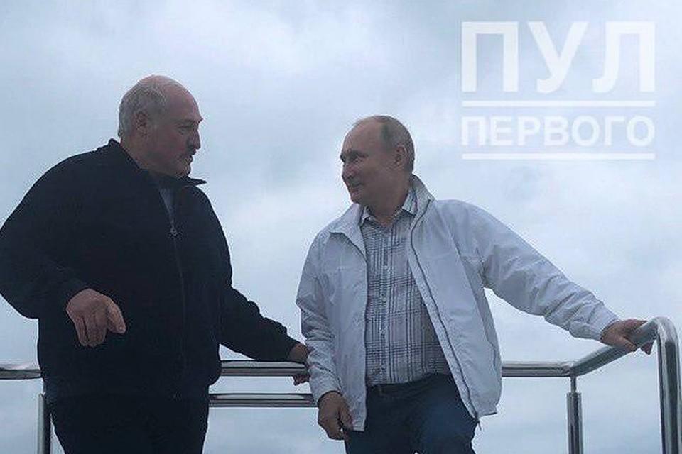 """Стало известно, что обсуждали Лукашенко и Путин. Фото: ТГ-канал """"Пул Первого"""""""