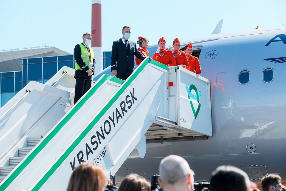 В аэропорту Красноярска открылся хаб «Аэрофлота»