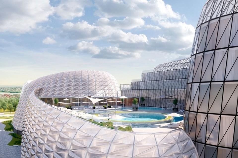Эскиз проекта аквапарка на Затоне. Фото: krd.ru
