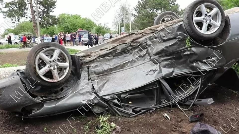 В страшной аварии погиб двухмесячный ребенок и пострадало еще девять человек (Фото: МВД Приднестровья).