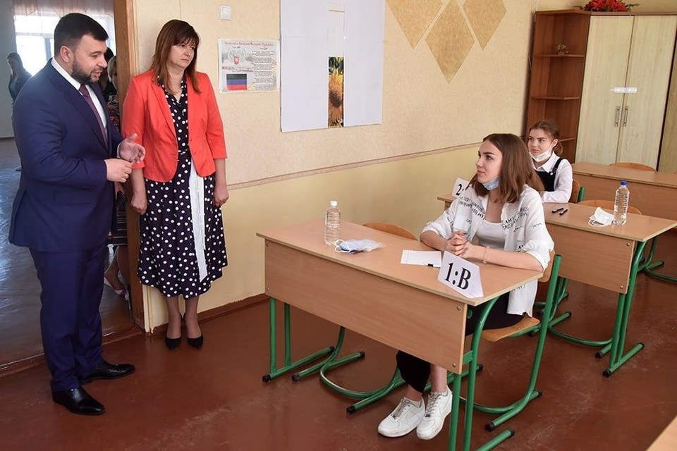 Денис Пушилин поздравил ребят. Фото: Телеграм-канал Главы ДНР