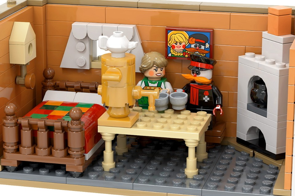 """Петербуржец воссоздал """"Деревню дураков"""" в конструкторе Lego. Фото: twitter.com/artembizyaev"""