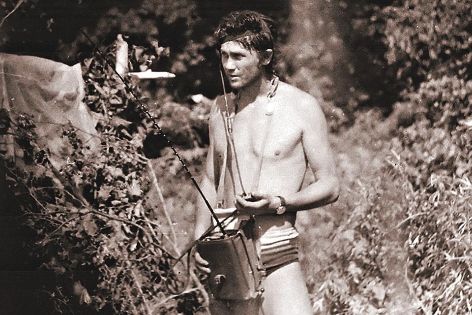 Леонид Репин в последние часы пребывания на диком берегу. Фото: Личный архив