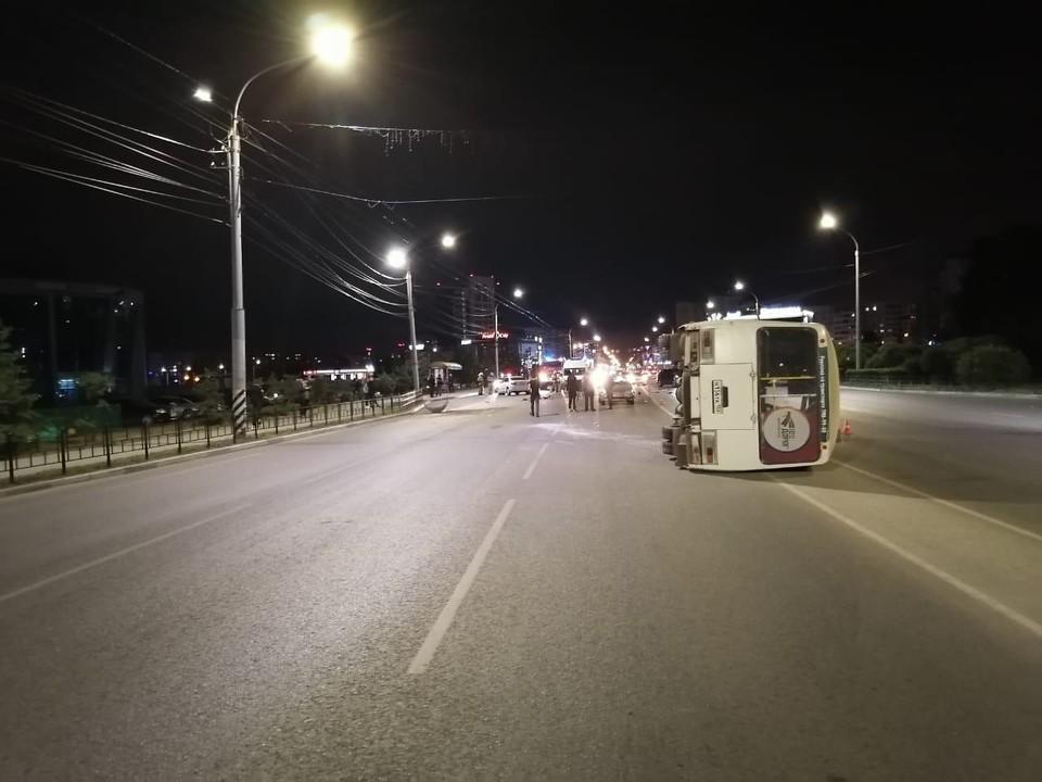 В автобусе находились дети. ФОТО: Госавтоинспекция по Омской области
