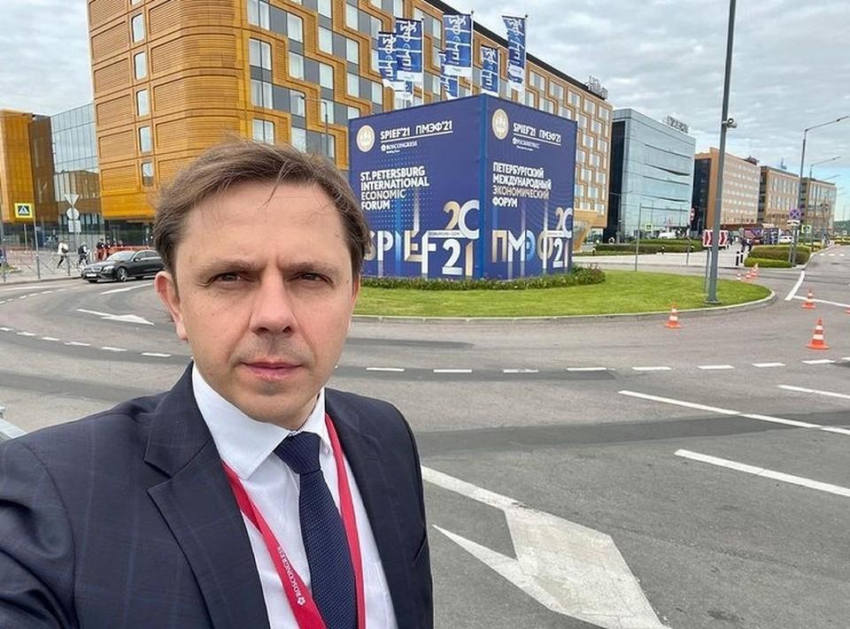 Орловская делегация во главе с Андреем Клычковым участвует в ПМЭФ 2021