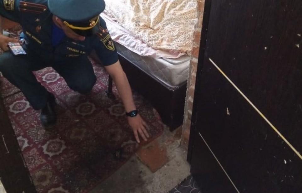 8-летняя девочка потушила огонь до приезда спасателей. Фото: ГУ МЧС по НСО