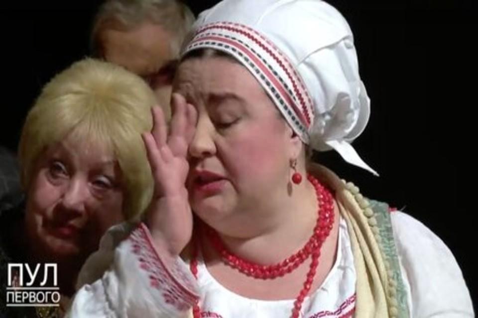 Ольга Нефедова на встрече с Лукашенко в Купаловском театре. Фото: скриншот с видео «Пул Первого»