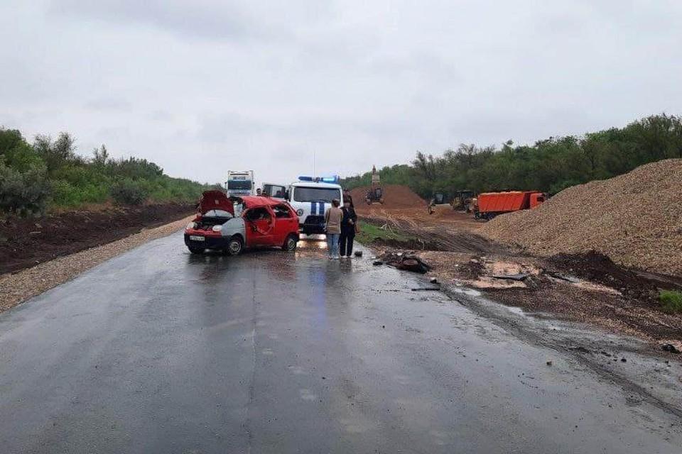 Водитель Daewooo Matiz разбился в Саратовской области