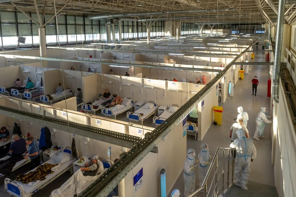2 июня во временном госпитале развернули второй павильон для инфекционных больных.