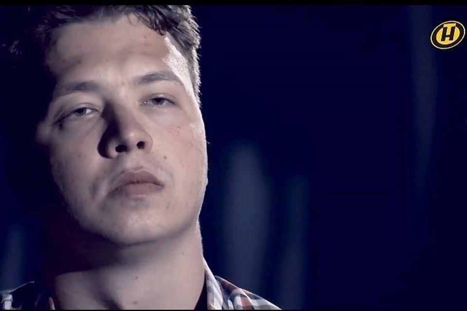 Задержанный Роман Протасевич появился в программе «Марков. Ничего личного» на ОНТ. Фото: скриншот с видео ОНТ
