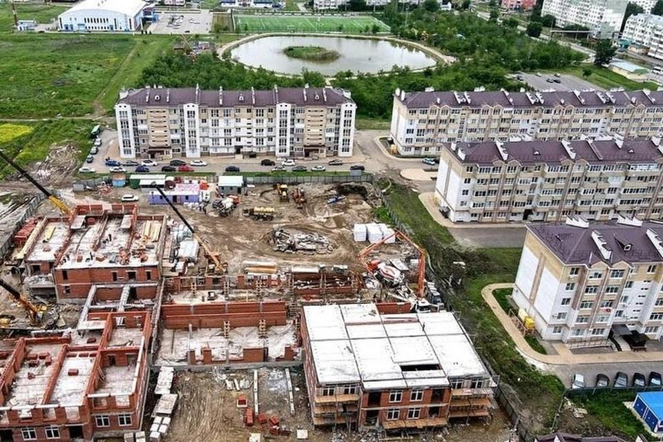Строительная площадка нового детского сада в Невинномысске. Фото: администрация города