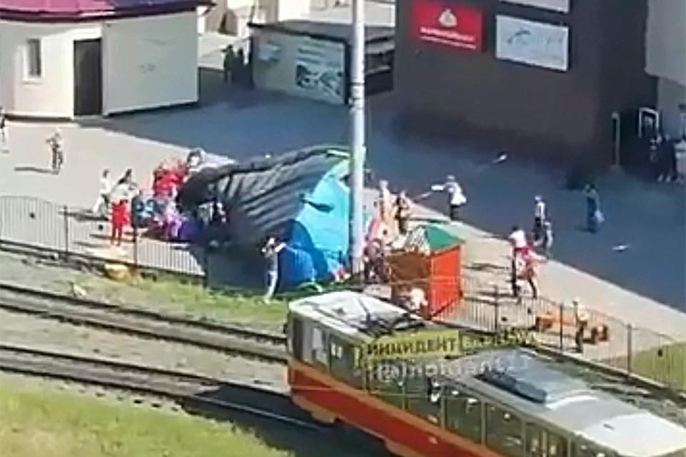 "Скриншот видео со страницы ""Инцидент Барнаул"""