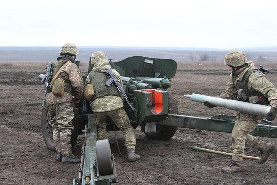 ВСУ оборудуют позиции в районе села Катериновка. Фото: пресс-центр штаба ООС