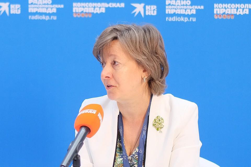 Гендиректор Российского экспортного центра Вероника Никишина. Фото Василия Вострухина