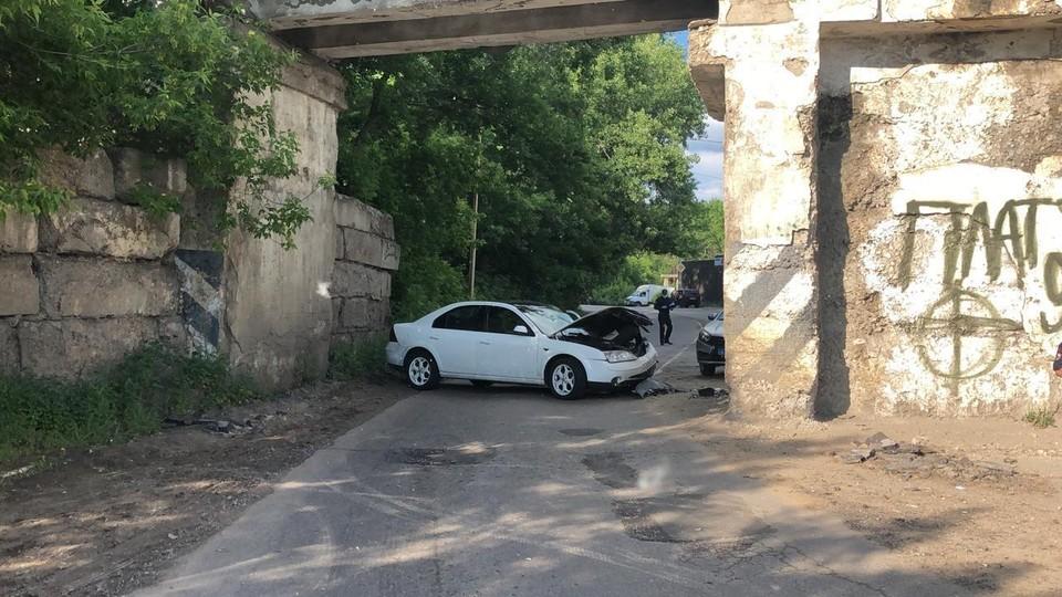Водитель потерял управление машиной