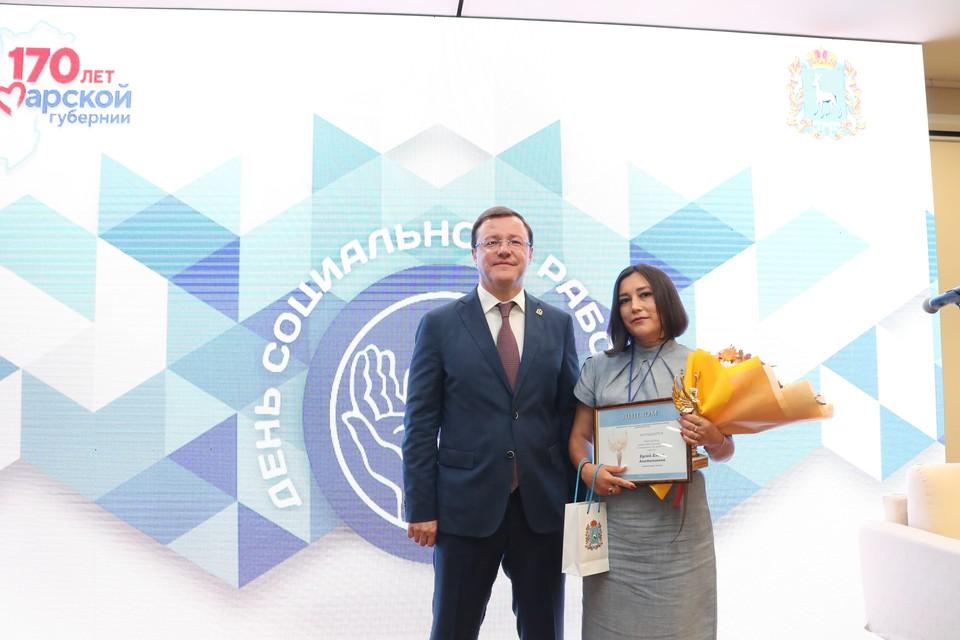 Почетные награды получили лучшие соцработники
