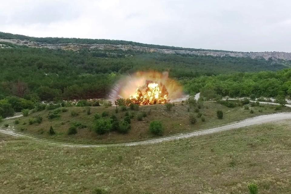 Финал операции - взрыв.