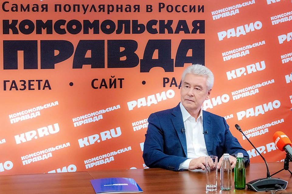 Сергей Собянин сообщил, что в ближайшие дни откроют дополнительные больницы для приема больных. Фото: Денис Гришкин, пресс-служба мэра Москвы