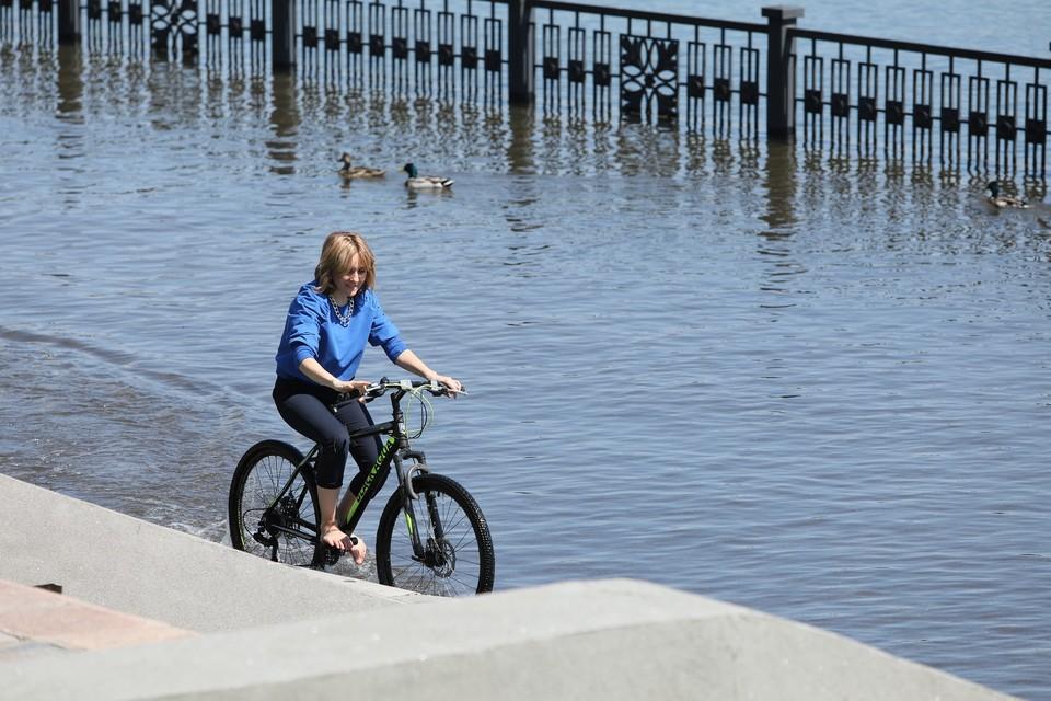Паводок в Красноярске 2021: уровень воды в Енисее уменьшился на 5,7 сантиметров
