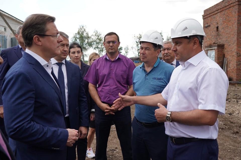 Дмитрий Азаров оценил, как идет развитие Большеглушицкого района