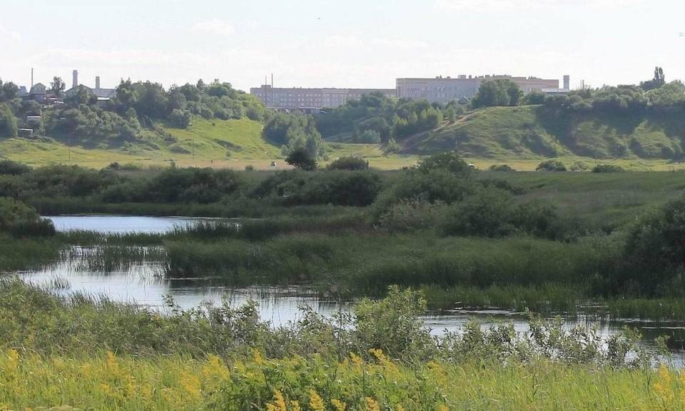 Река Быстрица подходит вплотную к пойменным озерам у Канищева