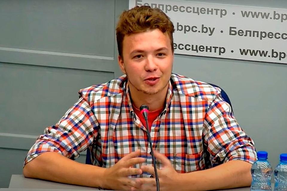Роман Протасевич принял участие в пресс-конференции МИД Белоруссии по самолету Ryanair