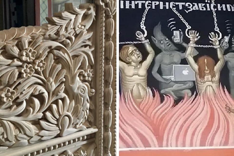 Фрески монастыря под Тверью уже знамениты, теперь дело за резными драконами. Фото: VK/Николаевский Малицкий мужской монастырь; Евгений Александров