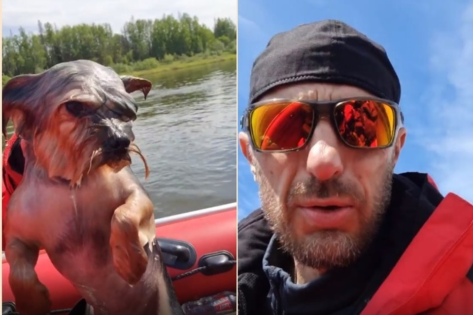 Джеки и его спаситель Алексей. Фото: стоп-кадр видео https://www.instagram.com/jet_extreme/.