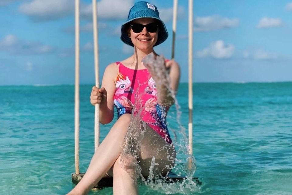 Татьяна Брухунова отдыхает на Мальдивах.